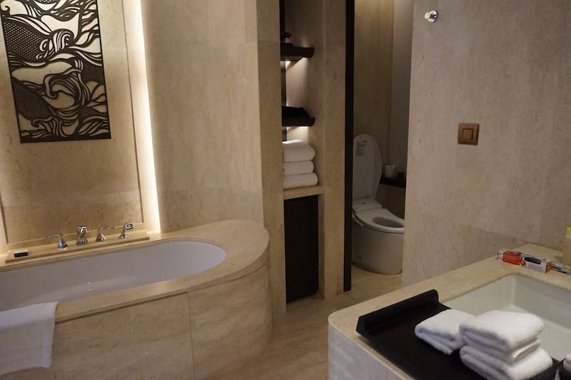 Master bathroom with toilet