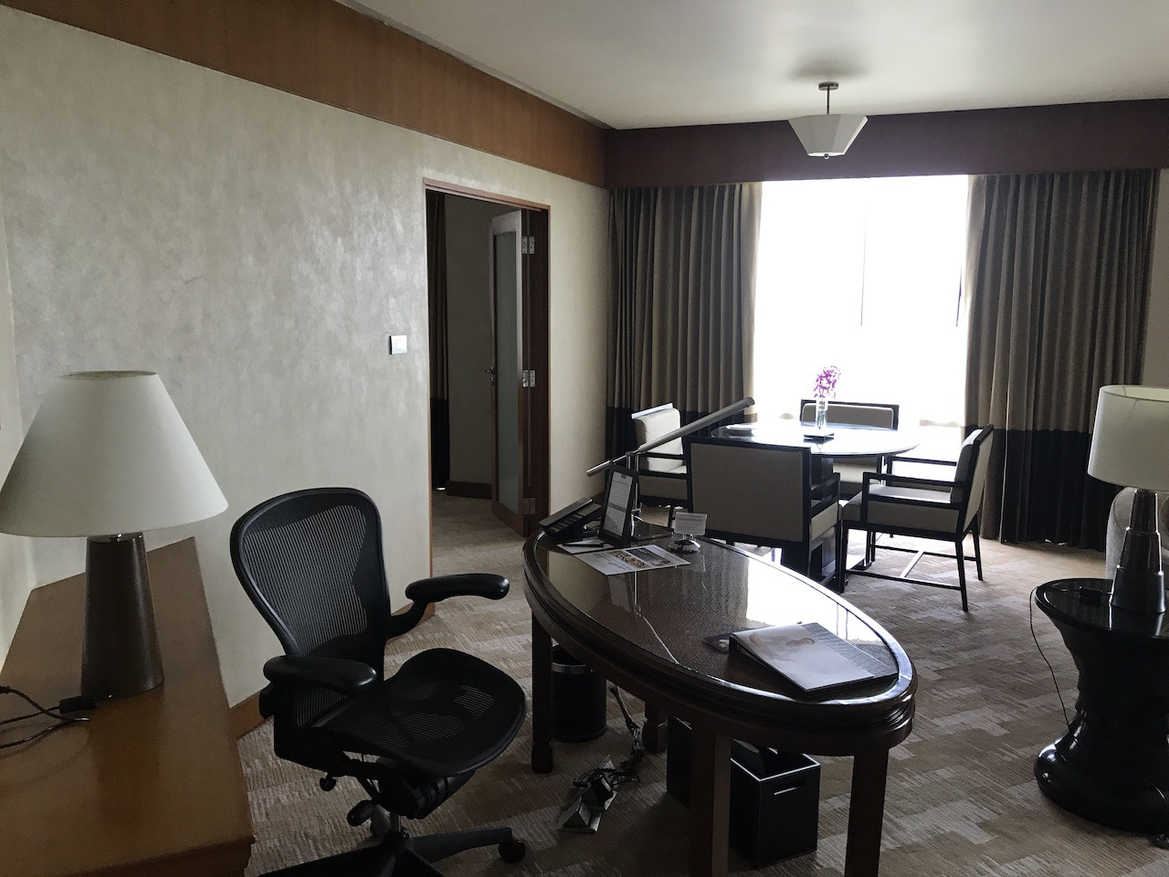 Suite desk and work area