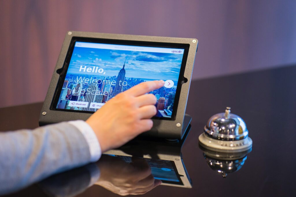 Hotel check in tablet