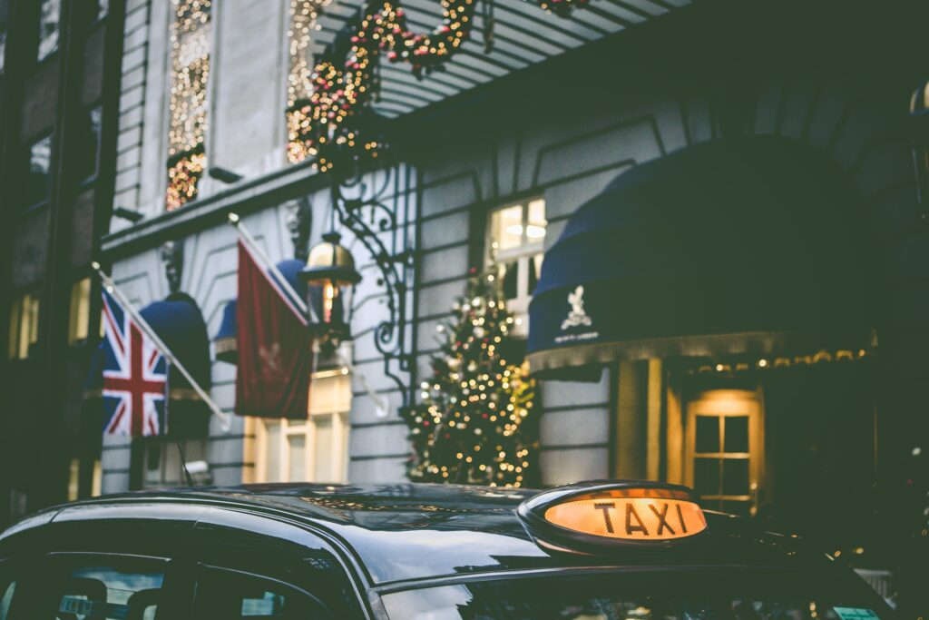 Taxi Outside British Hotel