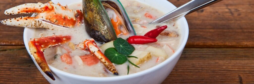 The best time of year to visit Seattle is anytime with a hot bowl of Chowder Seattle Washington