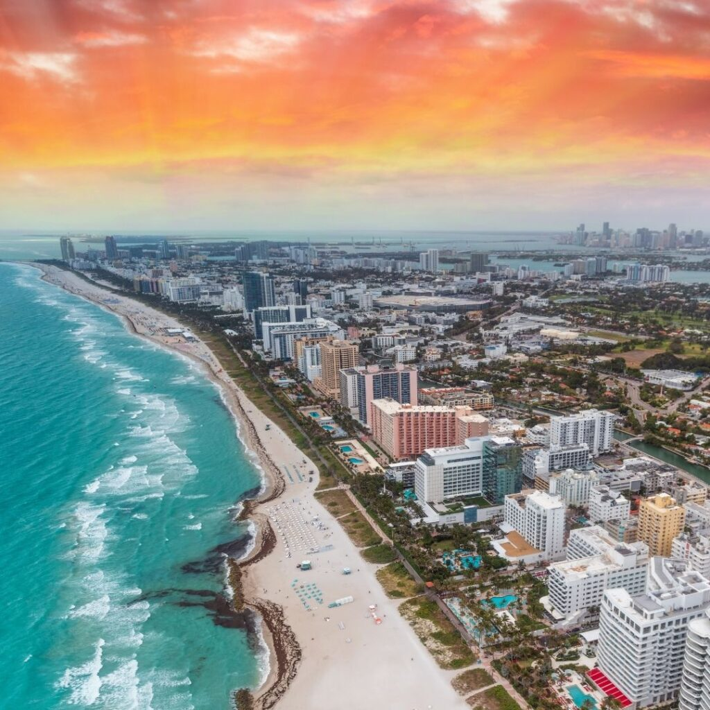 South Beach aerial view, I must see if you only have one day in Miami